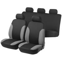 Capa De Assentos Multilaser AU329 5 Lugares Preta e Cinza