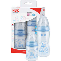 Kit com 2 Mamadeiras Nuk FC Rose & Blue 150ml e 300ml S1/S2 Boys