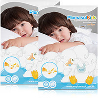 Capas para Travesseiro Plumasul Impermeáveis Com Zíper 233 Fios Infantil Branca 30x40cm 2 peças