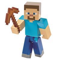 Boneco Minecraft Mattel Basic Steve Pickake Dnh08/dnh09