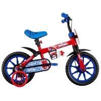 Bicicleta Caloi Homem Aranha Spider Man Aro 12 Vermelha e Azul