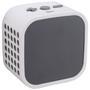Caixa de Som Cubo Sem Fio Leadership com Microfone Bluetooth Branca