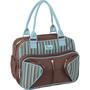 Bolsa Bag Média Baby Go Luxo Pooh com Trocador Marrom e Azul