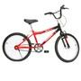 Bicicleta Monark BMX Aro 20 Preta e Vermelha