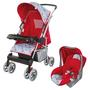 Carrinho de Bebê Travel System Tutti Baby Magni Vermelho + Bebê Conforto Tutti Baby Nino Vermelho
