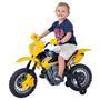 Moto Elétrica Homeplay Motocross Amarela