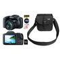 Câmera Digital Canon Powershot SX520HS 16.0MP + Cartão de 8GB + Bolsa Stillo Lona 600 CS09 Preta