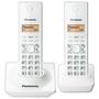 Telefone Panasonic KX-TG1712 Branco + 1 Ramal