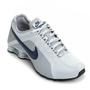 Tênis Nike Shox Junior Masculino Cinza e Azul Marinho