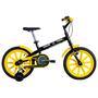 Bicicleta Caloi Team R16 Aro 16 Preta e Amarela