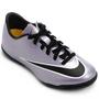 Chuteira Nike Mercurial Victory 5 IC Futsal Infantil Unissex Roxo e Preta
