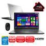 Notebook Lenovo G40-70 80GA000EBR Core I3 1.7GHz 4GB 1TB Windows 8.1 + Mouse Óptico Microsoft Mobile 1850