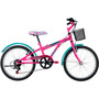 Bicicleta Caloi Barbie Fuccia Aro 20 Rosa
