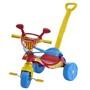 Triciclo Biemme Smile Confort com Empurrador Vermelho e Azul