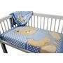 Cobertor Infantil Camesa Microfibra Urso Azul
