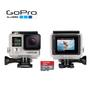Câmera Digital GoPro Hero4 Silver Edition Adventure 12MP Cinza e Preta + Cartão SanDisk 16GB + 1 Adaptador