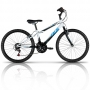 Bicicleta Caloi Max 21 Marchas Aro 24 Preto Branco e Azul