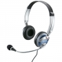 Fone de Ouvido Multilaser Headset Profissional P2 PH026 Prata e Azul