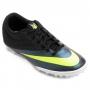 Chuteira Nike Mercurial Pro TF Society Masculina Preta e Roxa
