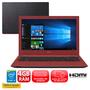 Notebook Acer Aspire E5-573-36M9 Intel Core i3-5015U 4GB 500GB 2.1GHz Windows 10 Preto e Vermelho