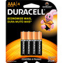 Pilha Alcalina AAA com 4 unidades Duracell