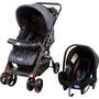 Carrinho de Bebê Reversível Prime Baby Concord Max Ar Preto