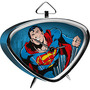 Relógio de Mesa Triangular DC Comics Superman Flyeng Fdg Azul