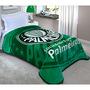 Cobertor Solteiro Corttex Casa Estampado Palmeiras Verde
