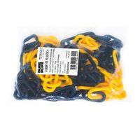 Corrente plástica 10mm x 10 metros com elo grande amarela e preta Balaska