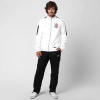 Agasalho Nike Corinthians Squad Sideline Woven Masculino Branco ... 1089a63fc483a