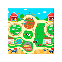 Tapete Infantil Safety 1st Play Mat Busy Farm 1 Peça 125x125cm