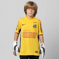 Camisa Santos Nike Goleiro 2012 Sem Número Infantil Amarela  08b5e4d407fac