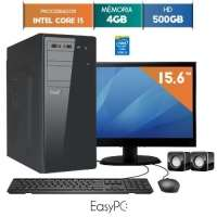 Computador Com Monitor LED 15.6'' Easypc 5560 Core I3 3.3GHz 4GB 500GB Windows 10