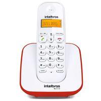 Telefone Sem Fio Intelbras  TS 3110 Eco Mode Vermelho e Branco