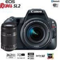 Câmera Canon EOS Rebel SL2 PREMIUM kit lente 18-55mm + 55-250mm