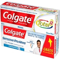 Creme Dental Colgate Sensitive Pro-Alívio Branqueador 110 G + Total 12 Clean Mint 90 G