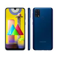 "Smartphone Samsung Galaxy M31 SM-M315 128GB 4G Dual Chip 6,4"" Desbloqueado Android 10 Azul"