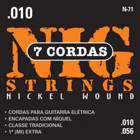 Cordas para Guitarra Elétrica de 7 Cordas 010-056 Nig String