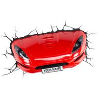 Luminária de Parede 3D Light FX Carro Esportivo Vermelho