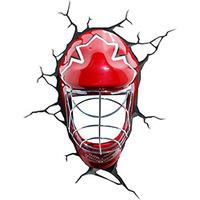 Luminária 3D Light FX de Parede Máscara de Hockey Vermelho