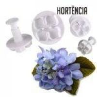 Ejetor, Cortador e marcador de Flor Hortência Hortênsia com 4 peças, importado, de cor bege