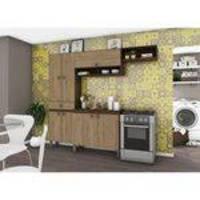 Cozinha compacta 6 portas e 2 gavetas be110 briz - café/rústico
