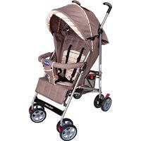 Carrinho de Bebê Passeio Prime Baby Umbrella Premium Marrom Listrado