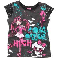 Camiseta Malwee Brilho Infantil Feminina Preta