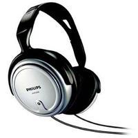 Fone de Ouvido Philips Headphone Controle de Volume SHP2500 Preto e Prata