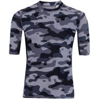 Camisa De Compressão Adidas Techfit Base Camuflada S16 Preto e Cinza ... 6d449cdff77ce