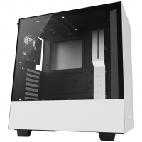 Gabinete Gamer NZXT H500 Tempered Glass Mid Tower com Janela Branco e Preto