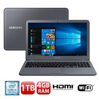 "Notebook Samsung Expert X20 NP350XAA-KFWBR Intel Core i5-8250U 4GB 1TB 1.6GHz Full HD 15.6"" Windows 10 Cinza"
