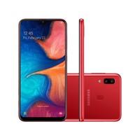 Smartphone Samsung Galaxy A20 SM-A205G Desbloqueado Dual Chip 32GB Android 9.0 Vermelho