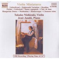 Takako Nishizaki (Violin) / Jenö Jandó (Piano) - Violin Miniatures